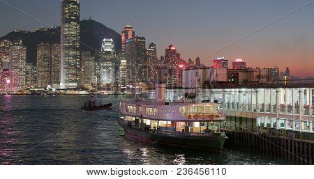 Tsim Sha Tsui, Hong Kong, 09 March 2018:- Hong Kong sunset