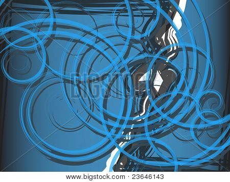 Background blue spiral abstraction