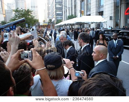 Johnny Depp Signing Autographs At The Chicago Premier Of The Movie Public Enemies, Chicago, Il June