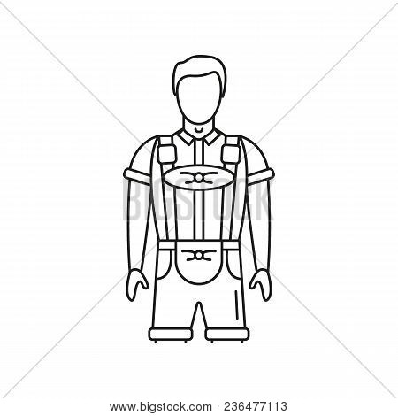 Germany National Costume Icon. Outline Germany National Costume Vector Icon For Web Design Isolated