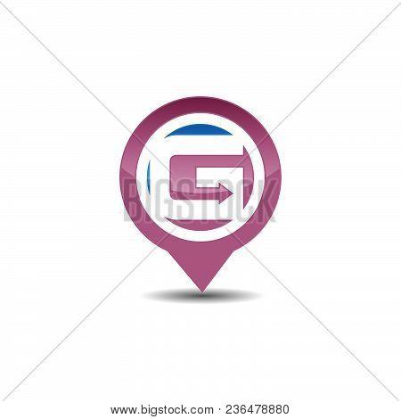 G Letter Gps Logo. Gps Vector. Gps Icon. Navigation Vector Logo. Navigation Vector Icon. Travel Logo