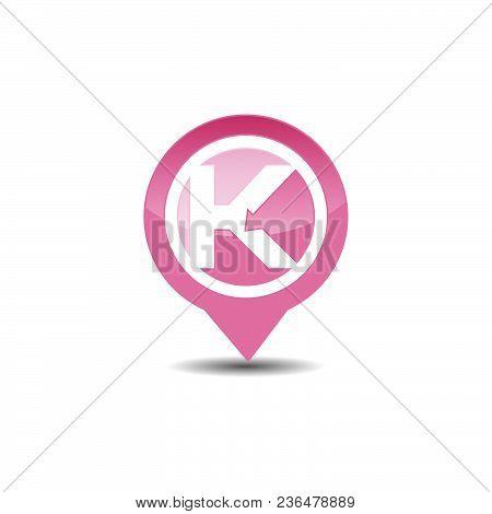 K Letter Gps Logo. Gps Vector. Gps Icon. Navigation Vector Logo. Navigation Vector Icon. Travel Logo