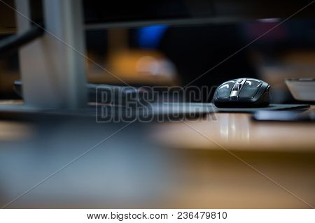A Computer Mouse In A Blur Background