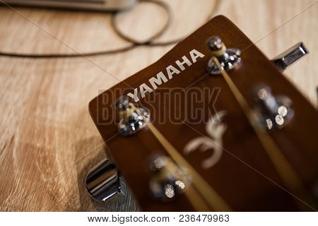 Chiangmai,thailand - May 20, 2017: Yamaha Is One Of The Most Appreciated Brands For Guitars And Bass