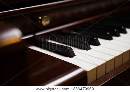 A Close Up Of Piano In A Studio