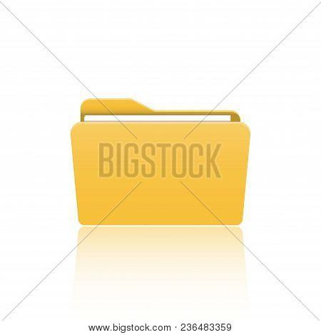 Folder Icon. Flat Design Graphic Illustration. Vector Folder Icon.