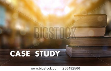 Case Study Concept Book In Library With Old Ollege Students Studying Study And Reading