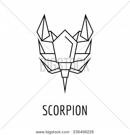 Awesome Origami Scorpion Icon Vector Photo Free Trial Bigstock Wiring 101 Capemaxxcnl