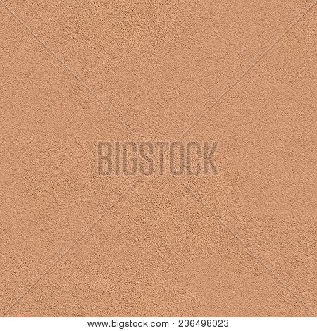Decorative Plaster Of Terracotta Wall. Seamless Tileable Texture.