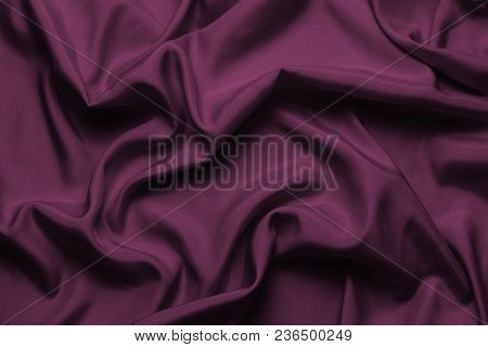 Purple Silk With Beautiful Waves. Can Be Used As A Background Or Wallpaper