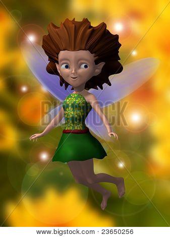 fairy 3d illustration