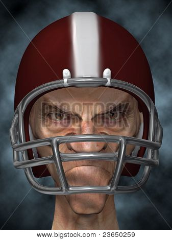 Old dirty football player