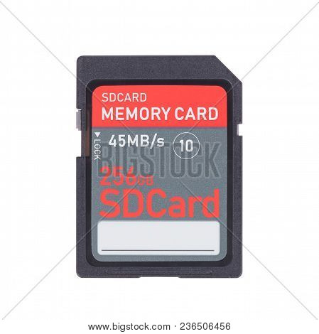 Memory Card Isolated On White Background - 256 Gigabyte