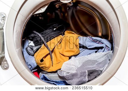 Dirty Cloth In Washing Machine At Home