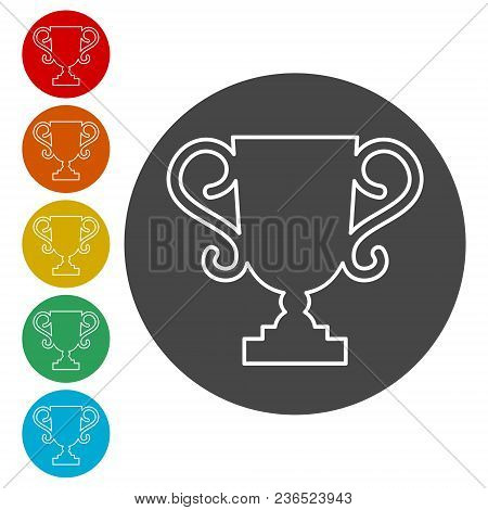 Trophy Sign Icon ,trophy Cup, Award, Vector Icon