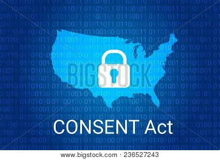 Consent Act. Customer Online Notification For Stopping Edge-provider Network Transgressions. Vector