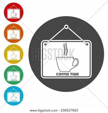 Coffee Sign, Coffee Cup Icon, Simple Icons Set
