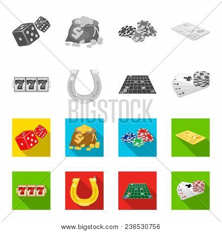 Excitement, Recreation, Hobby And Other  Icon In Monochrome, Flat Style., Casino, Entertainment, Ins