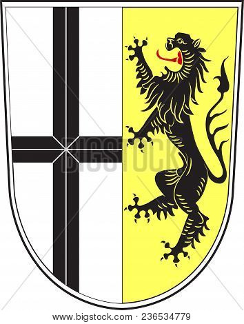 Coat Of Arms Of Neuss Is A District In The West Of North Rhine-westphalia, Germany. Vector Illustrat