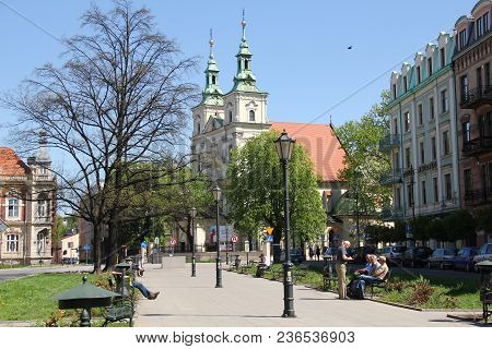 Krakow, Poland - April 29, 2012: This Is The Basilica Of St. Florian From Which The Royal Road To Wa