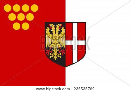 Flag Of Neuss Is A City In North Rhine-westphalia, Germany. Vector Illustration