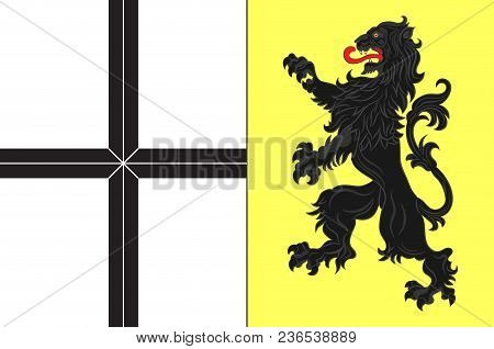 Flag Of Neuss Is A District In The West Of North Rhine-westphalia, Germany. Vector Illustration