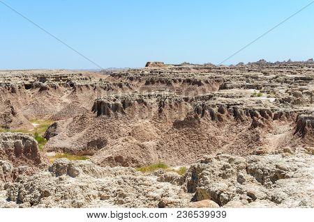 Landscape Shot Of Badlands National Park, South Dakota