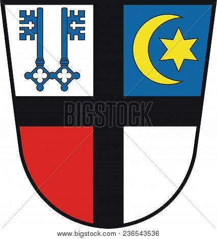 Coat Of Arms Of Kempen Is A Town In The District Of Viersen, In North Rhine-westphalia, Germany. Vec