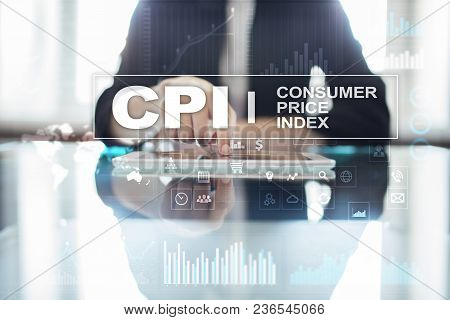Cpi. Consumer Price Index Concept On Virtual Screen