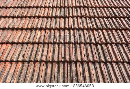 Old Roof Tiles From A House As A Background