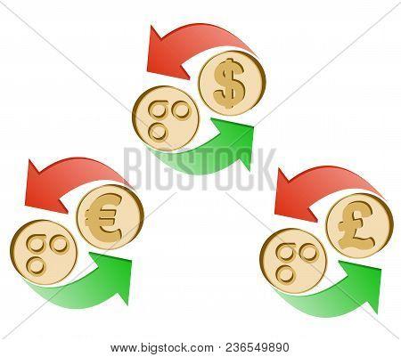 Exchange Omisego To Dollar,euro And British Pound , Coins Of Omisego And Dollar, Euro And British Po