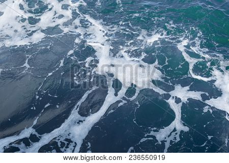 Background From The Blue Waves Of The Ocean