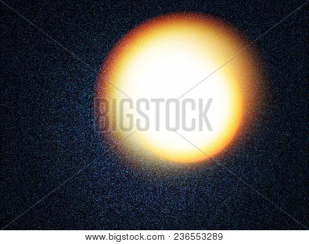 Sun Disc In Deep Space Illustration Background Hd