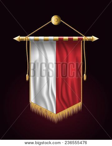 Flag Of Poland. Festive Vertical Banner. Wall Hangings