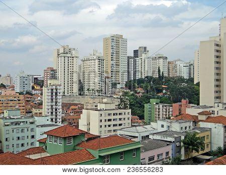 Panoramic View Of The Bela Vista Neighborhood In Sao Paulo, Brazil