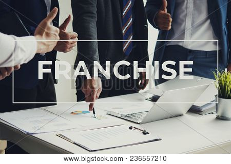 Business Team People Meeting Franchise Strategy Start Up New Project.
