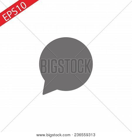 Chat Icon In Trendy Flat Style Isolated On Background. Chat Icon Page Symbol For Your Web Site Desig