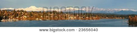 Olympic Mountains and Port Washington Narrows