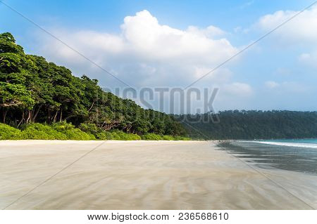 Radhanagar Beach At Andaman And Nicobar Island, India. Deserted Beach.