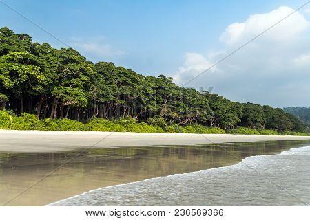 Stunning View Of Radhanagar Beach. Havelock Island Is A Beautiful Small Island Belonging To The Indi