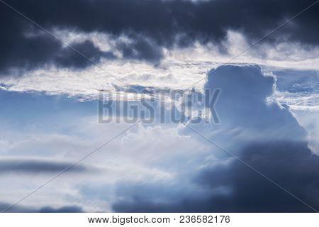 Dramatic Dark Clouds Formation On Baltic Sea