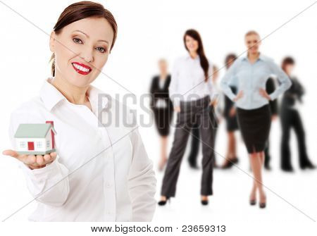 Real estate agents, isolated on white background