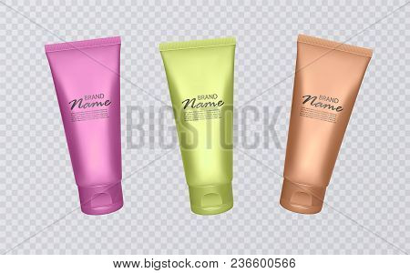Colorful Cosmetic Tubes, Cosmetic Templates, Ready For Design, Cosmetic Templates With Rainbow Color