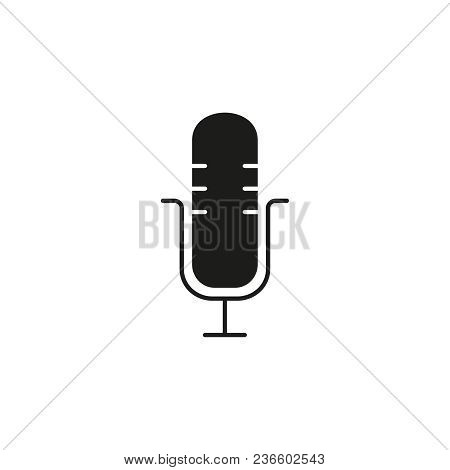 Microphone Voice Black Icon On The White Background