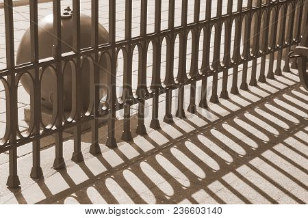 The Alternation Of Light And Dark Bands. The Shadow Of The Fence.