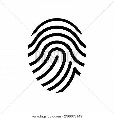 Finger Print On White Background. Vector Illustration