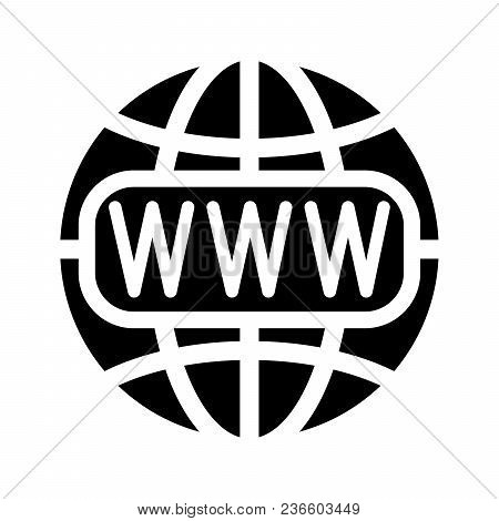 Symbol Of The Internet And Globe. Vector Illustration