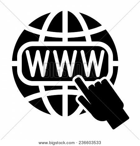Symbol Of The Internet, Globe And Cursor. Vector Illustration