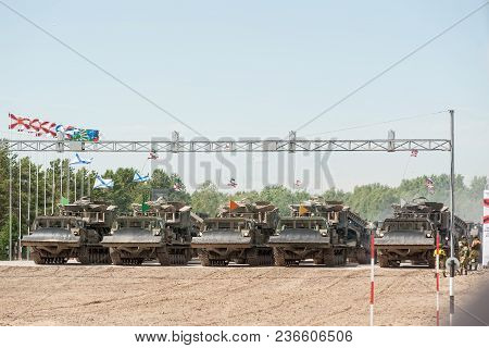 Tyumen, Russia - June 23, 2017: Army Games. Engineering Formula Contest. Highest Military And Engine