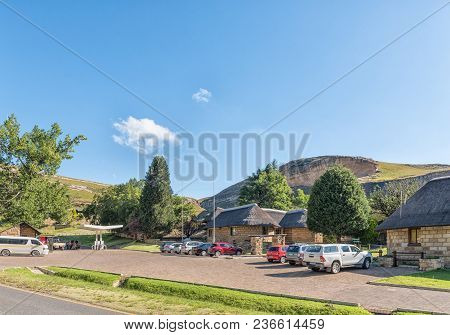 Golden Gate Highlands National Park, South Africa - March 12, 2018: The Reception Offices, Shop And